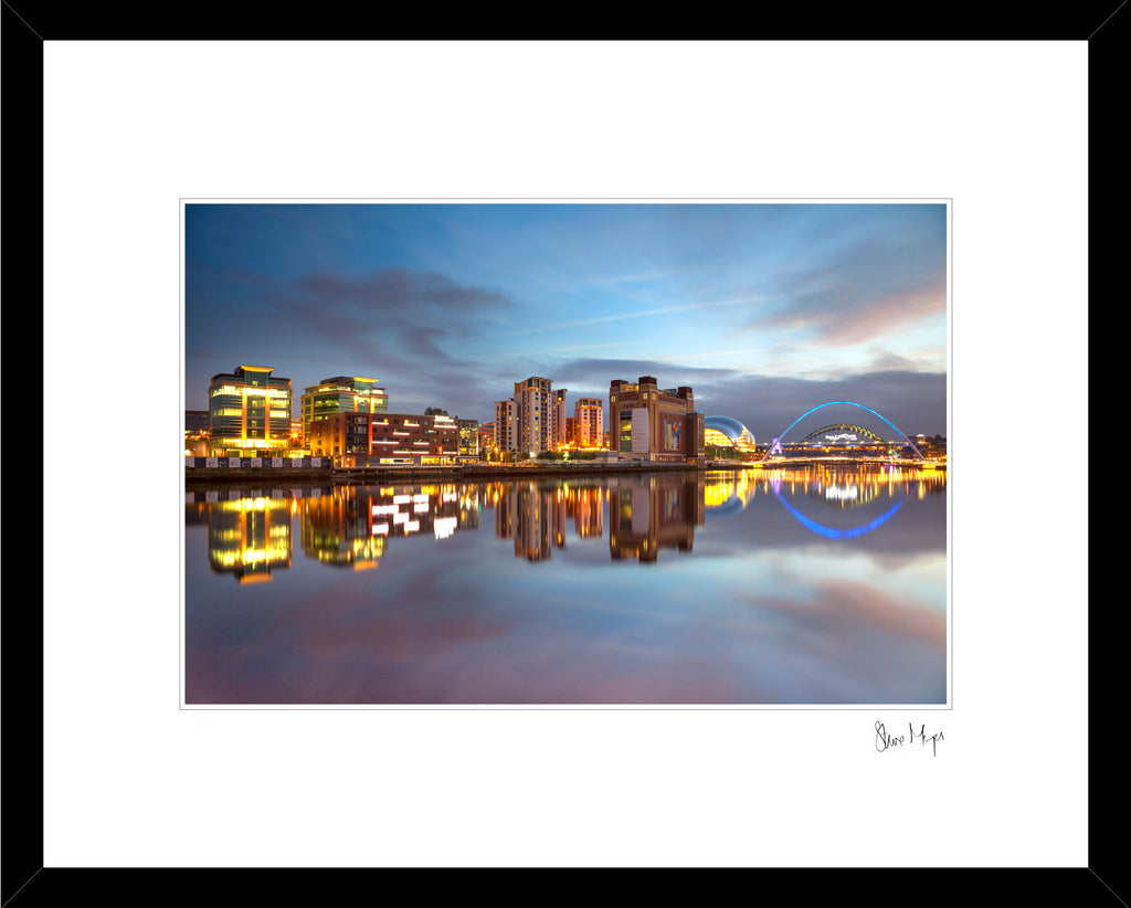 newcastle quayside reflection river tyne tyne bridge steve mayes north east photography prints