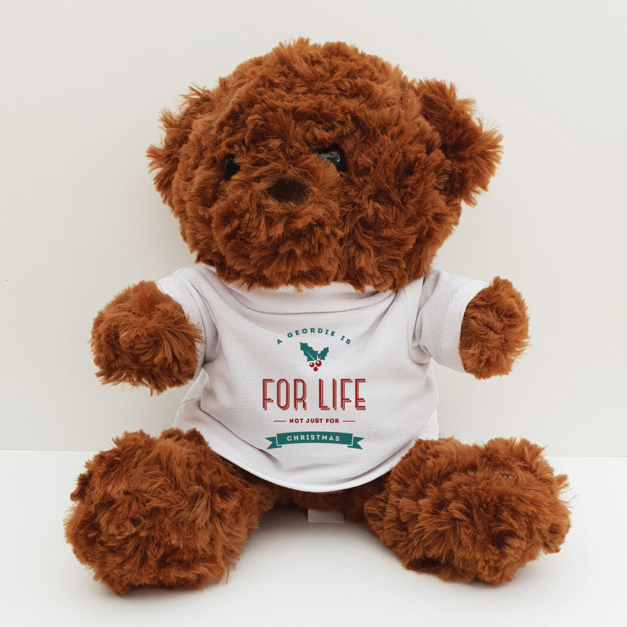 a geordie is for life not just for christmas funny newcastle secret santa gifts teddy bear