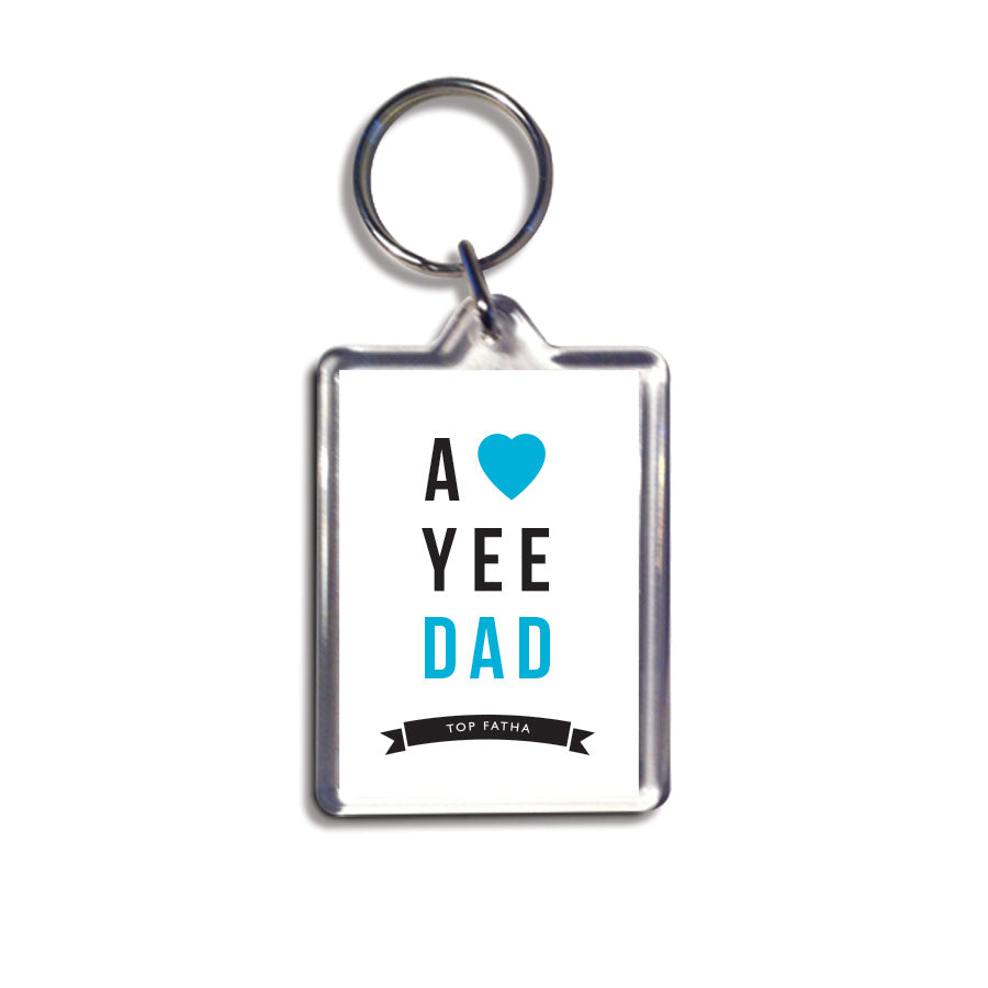 love yee Dad - Top Fatha geordie keyring