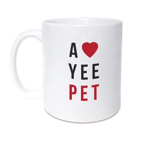 a love yee pet geordie mug. Newcastle northeast gifts