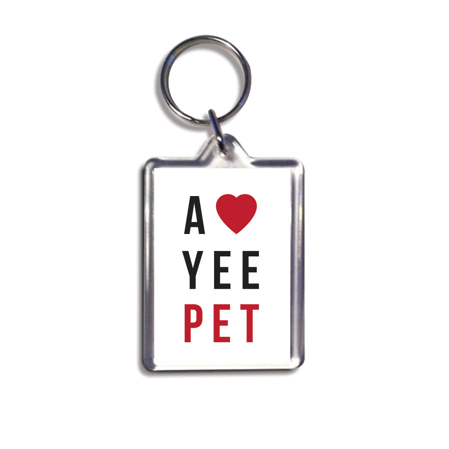 a love yee pet geordie keyring newcastle souvenir