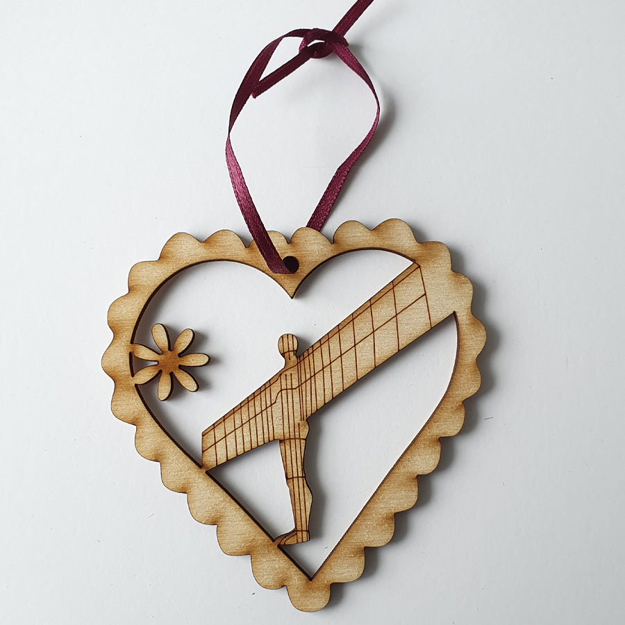 Angel of the North newcastle upon tyne geordie christmas tree decoration baubles