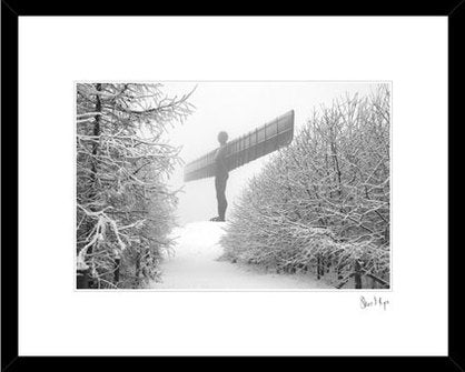 Angel of the North snow Photography. Professional print by Steve Mayes. North East landmark