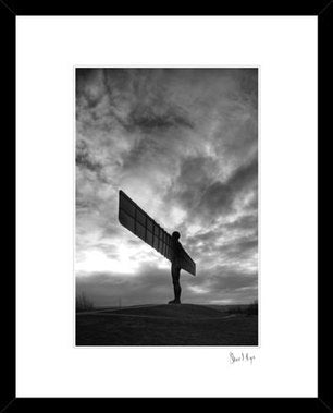 angel of the North silhouette north east landmark photography framed print