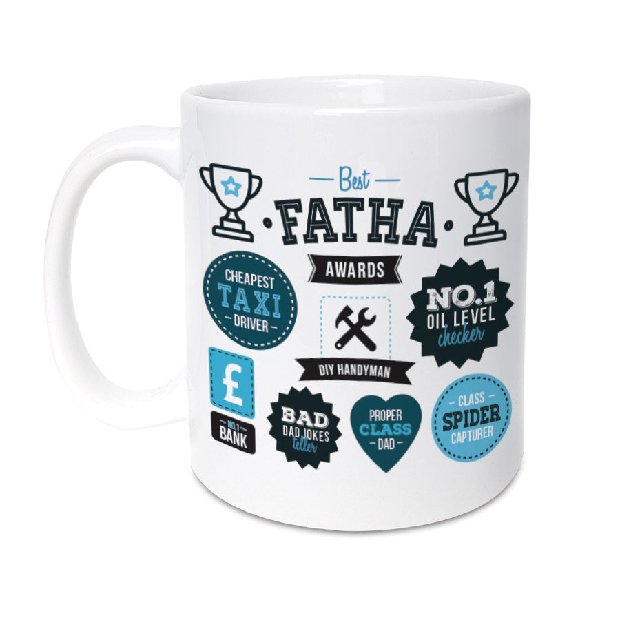best fatha (dad) awards geordie gifts fathers day mug