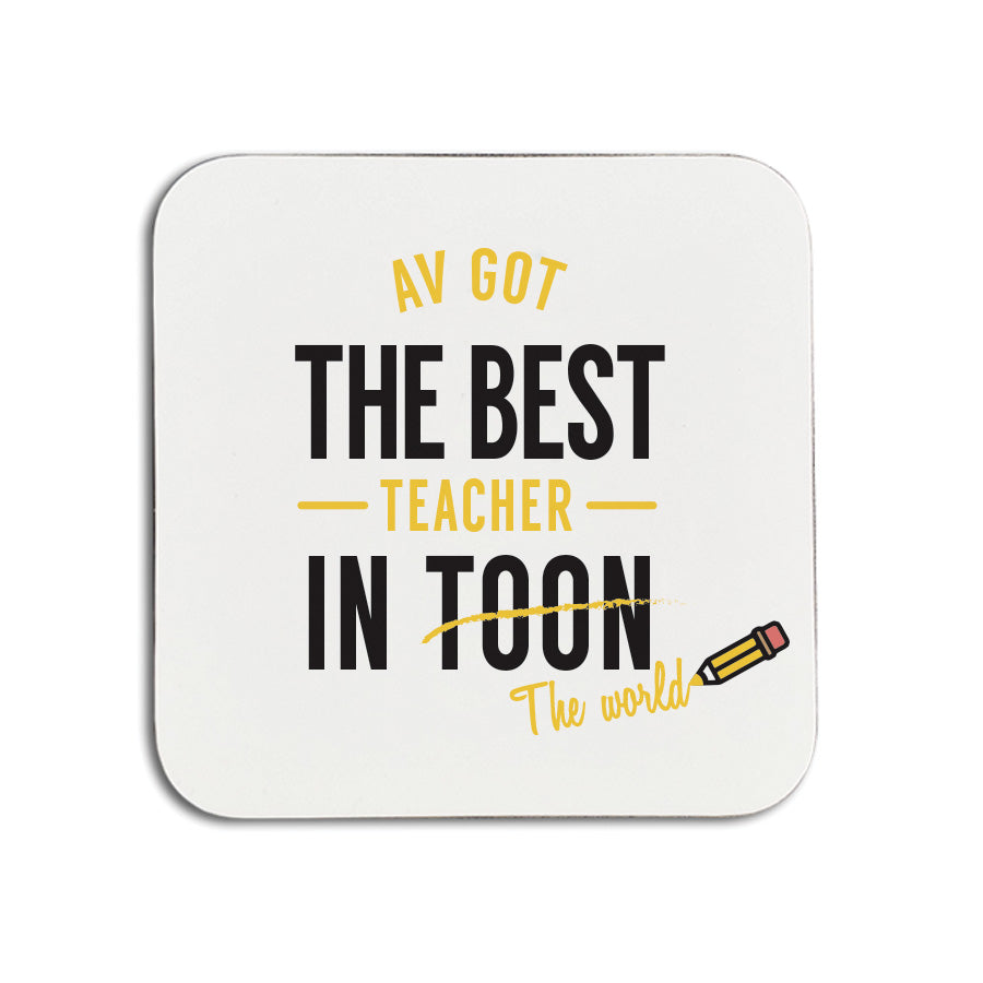 best teacher in toon (the world) geordie coaster newcastle school gifts
