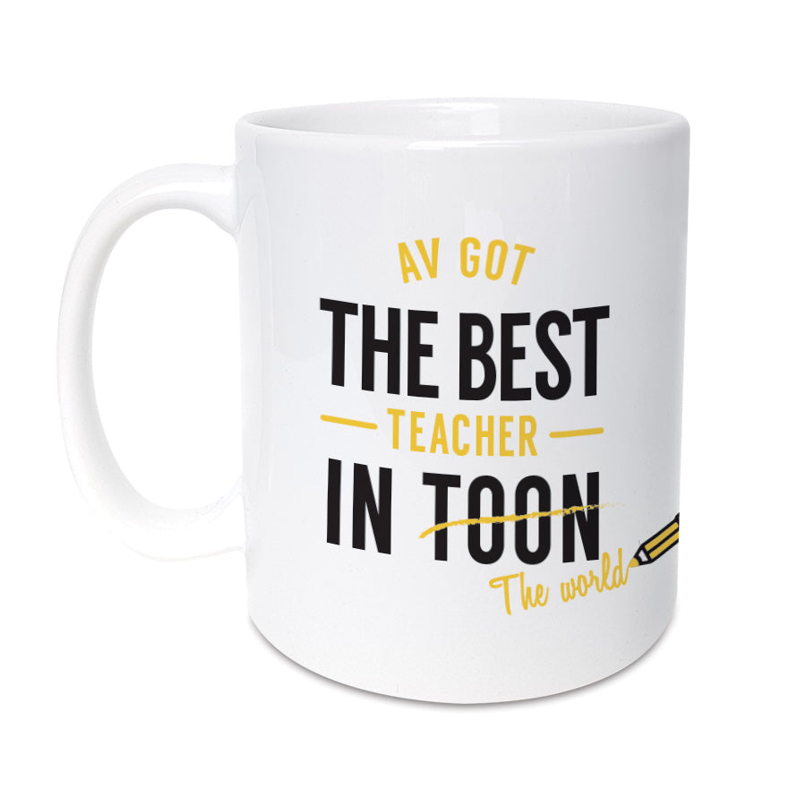 best teacher in toon (the world) geordie mug newcastle school gifts
