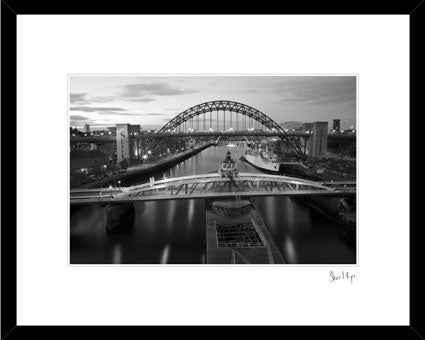 Swing bridge tyne bridge newcastle upon tyne framed photography prints river tyne