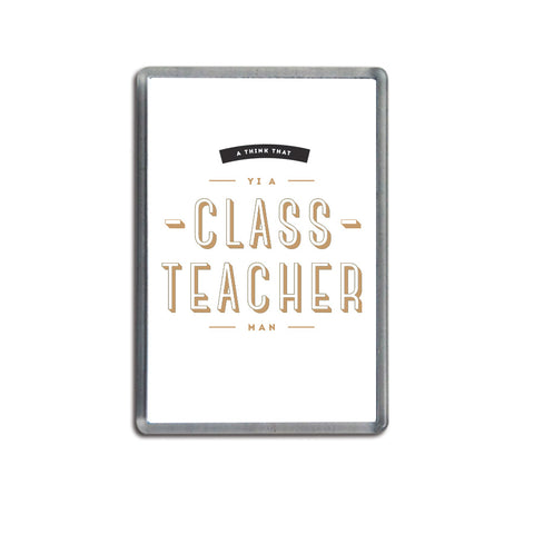 a think that yi a class teacher funny geordie gifts magnet