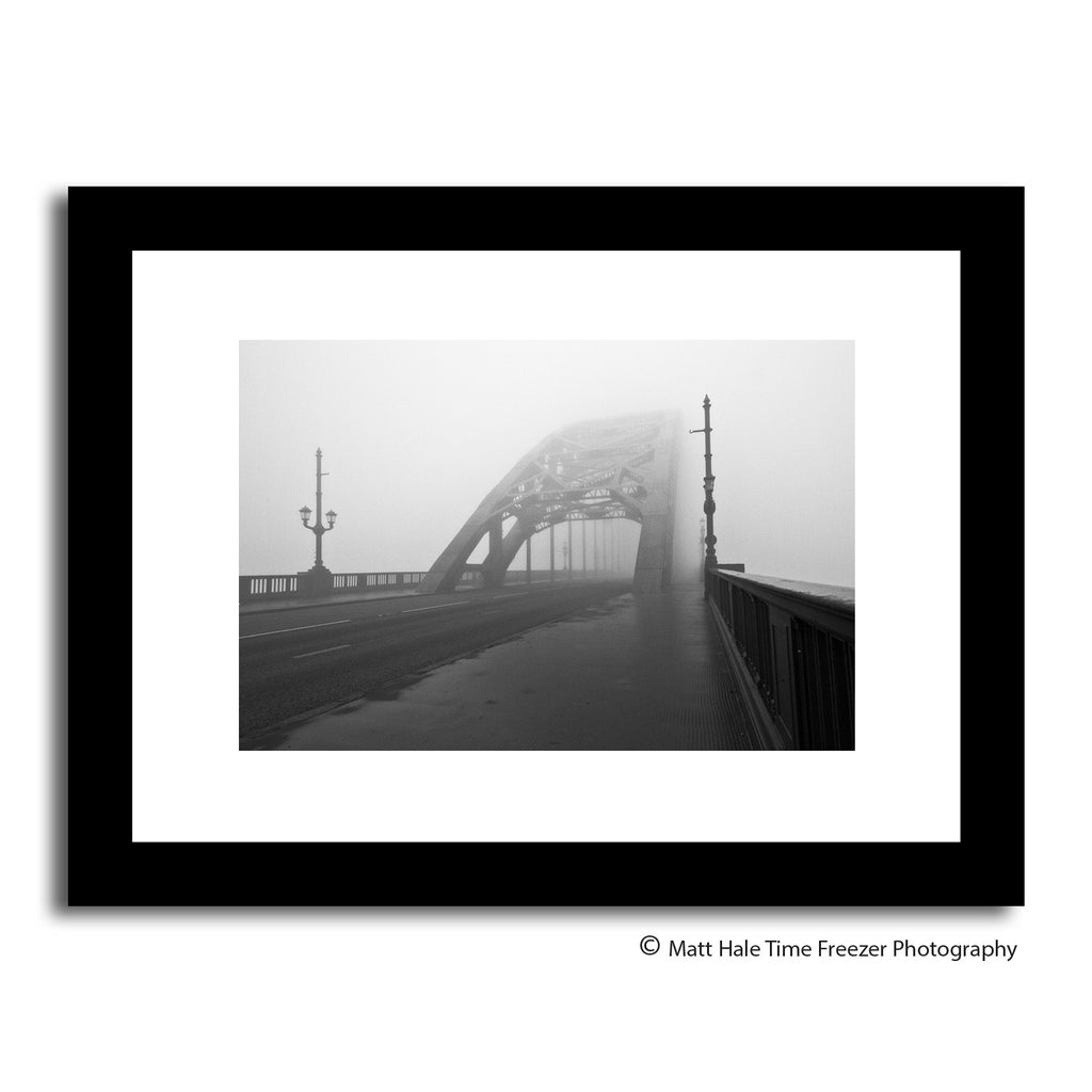 fog on the tyne is all mine. Newcastle tyne bridge in fog, framed print by matt hale. North east artwork landscape