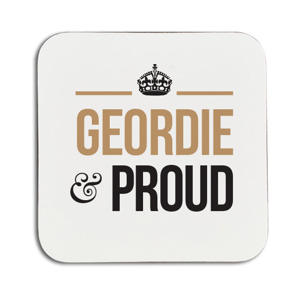 Geordie and proud newcastle phrase souvenir coaster