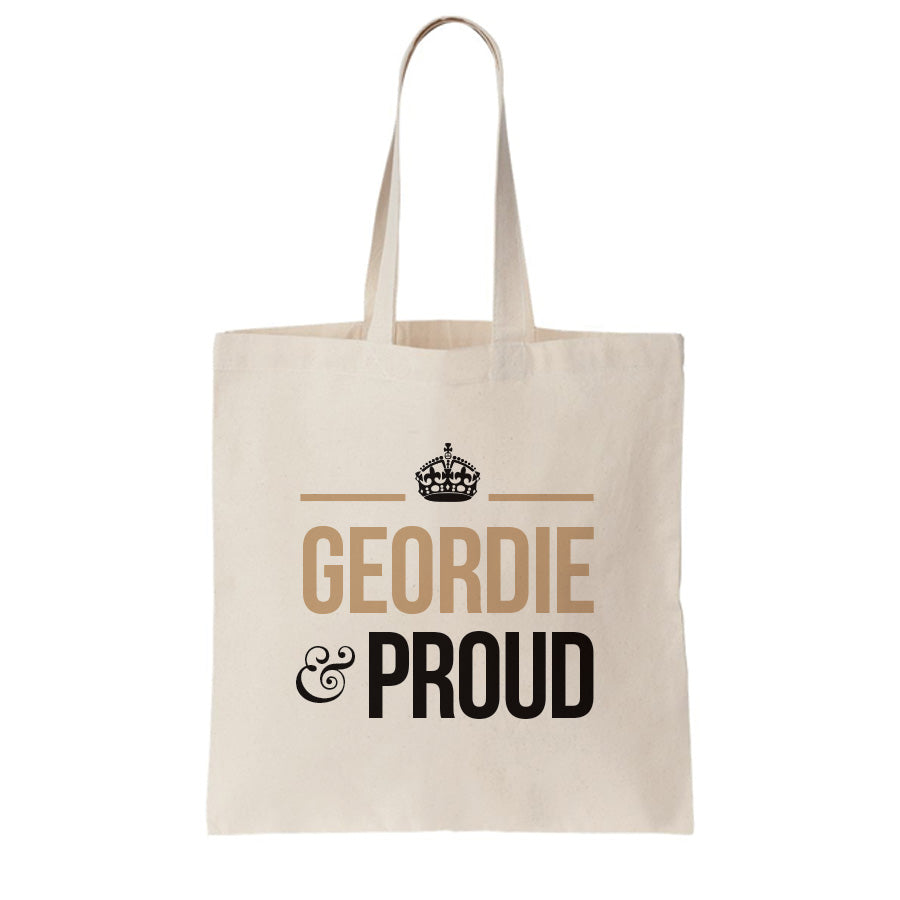 Geordie and proud newcastle tote bag for life