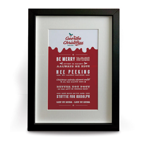 funny geordie christmas rules newcastle gifts print