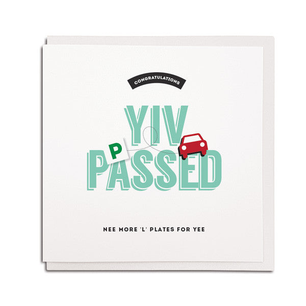 yiv passed congratulations pet. Geordie driving test card