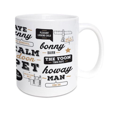 geordie sayings translated. newcastle words and meanings geordie gifts mug