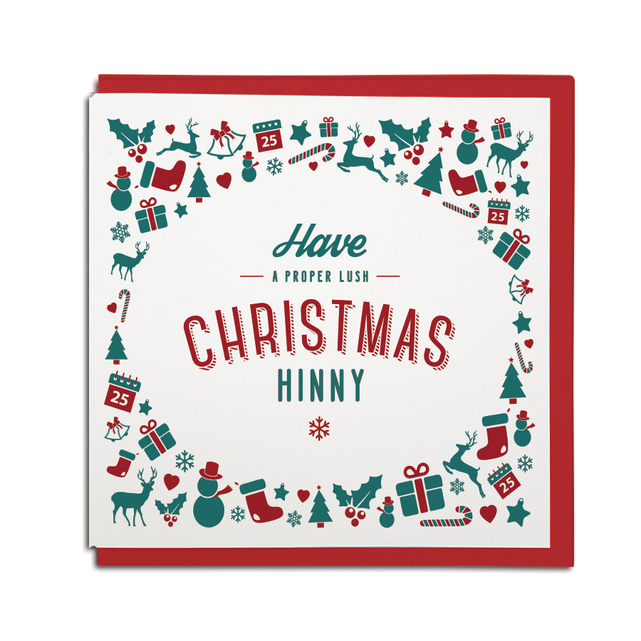 have a proper lush christmas hinny geordie gifts christmas cards