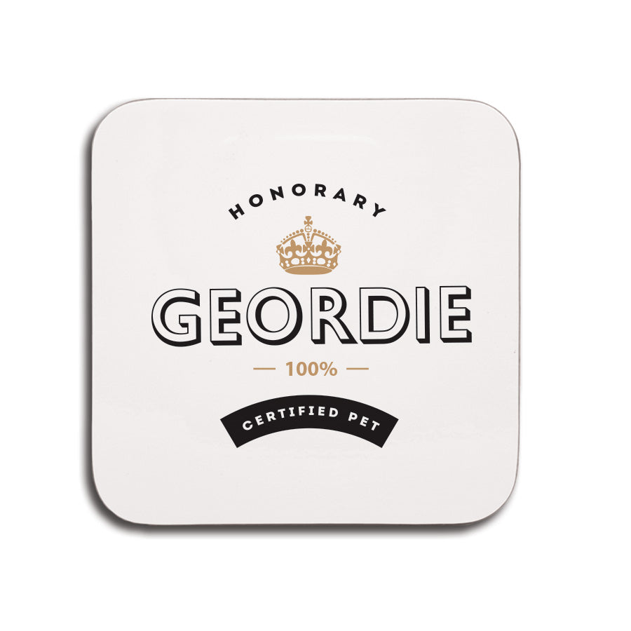 newcastle coaster honorary geordie 100% certified funny georde cards and gifts