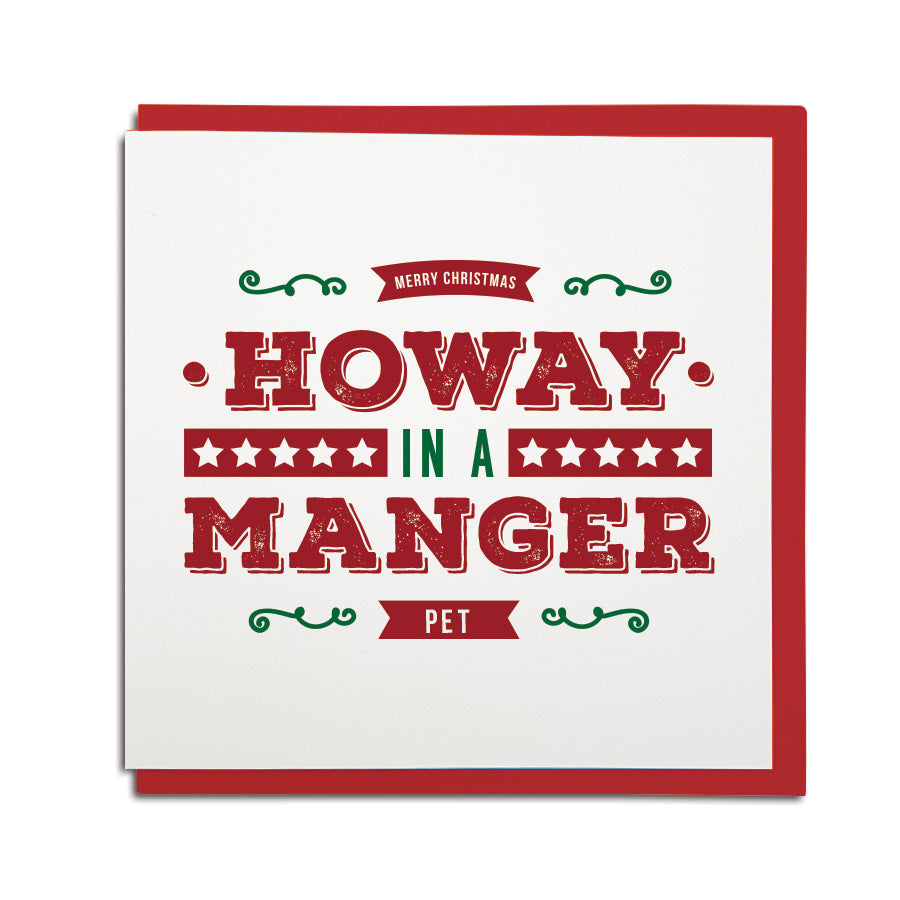 howay in a manger funny geordie christmas card shop newcastle north east gifts grainger market