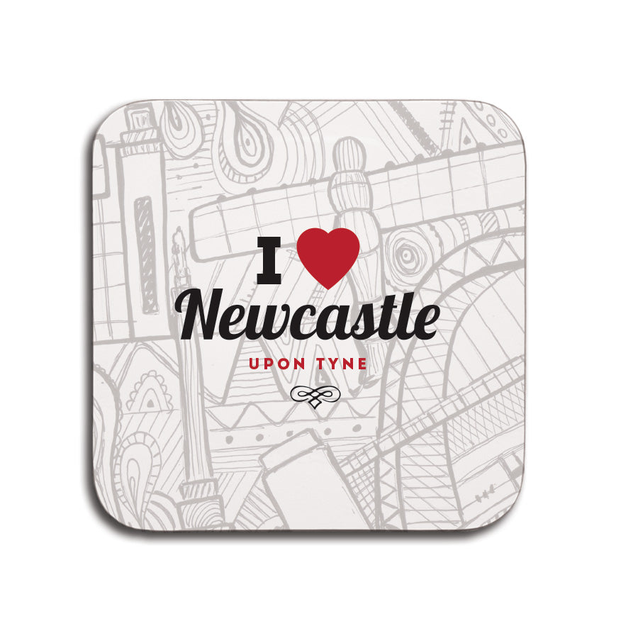 i love newcastle upon tyne coaster northeast landmarks geordie gifts. Tyne bridge, grey's monument, sage, baltic