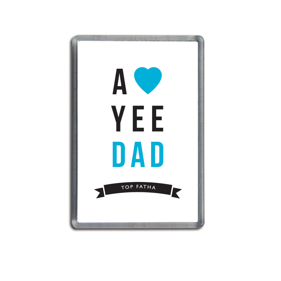a love yee dad small geordie gifts fridge magnet newcastle souvenirs