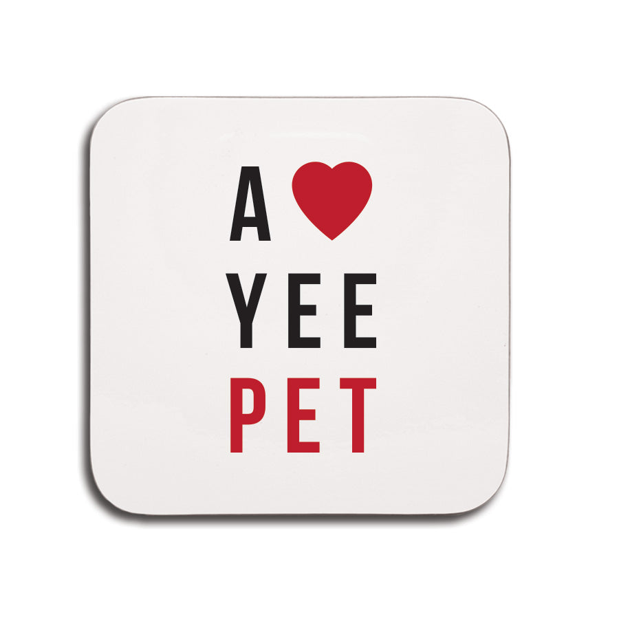 love yee pet geordie coaster small souvenirs newcastle gifts