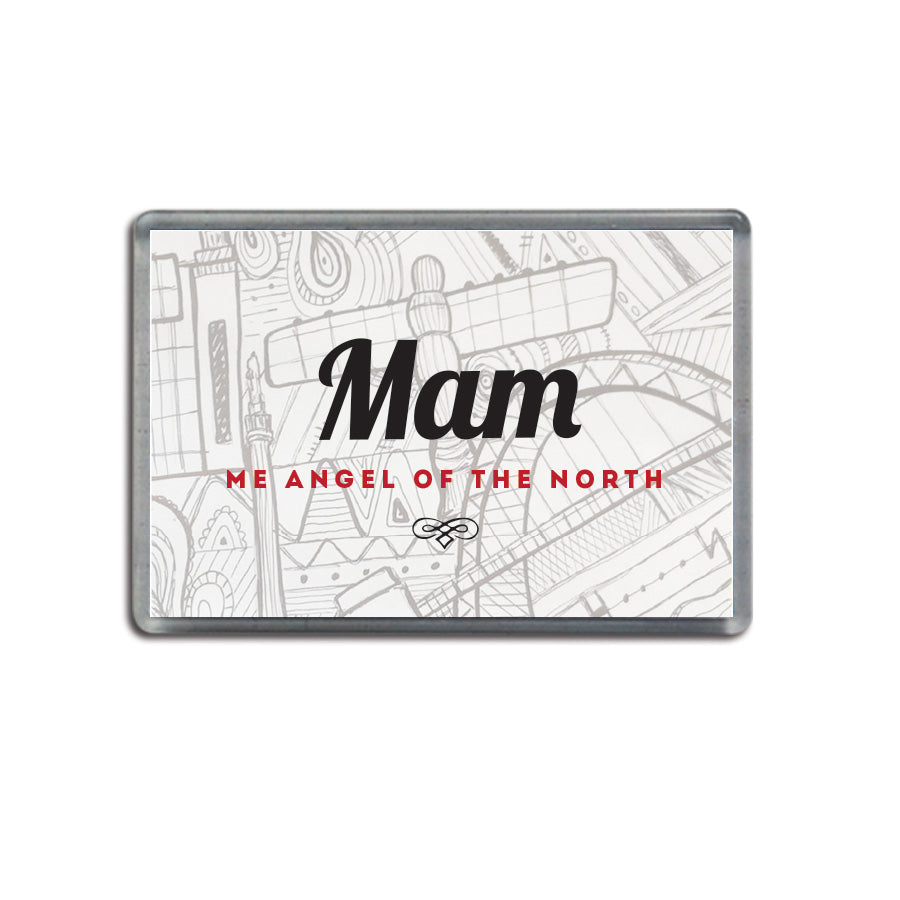 Mam me angel of the north geordie gifts fridge magnet newcastle presents