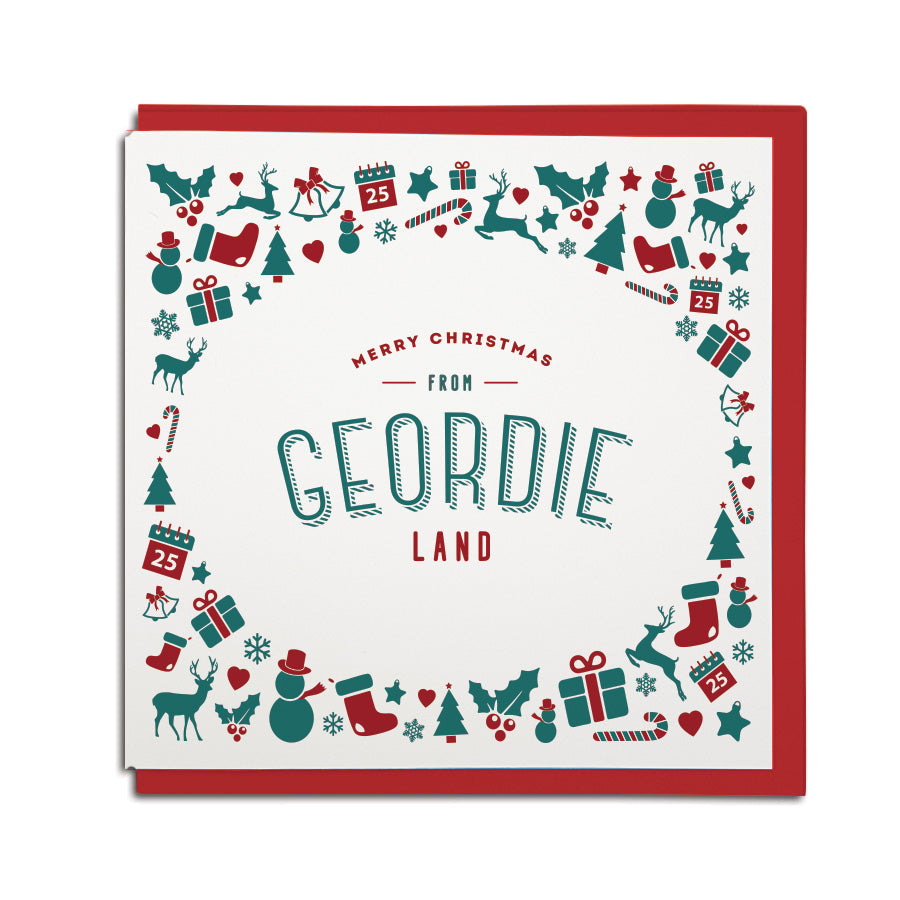 Merry Christmas from Geordie land Newcastle accent card