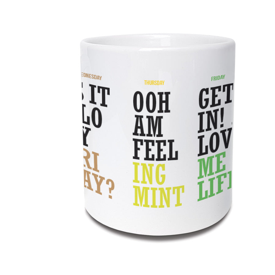 monday to friday working struggle funny geordie gifts mug northeast and newcastle phrases