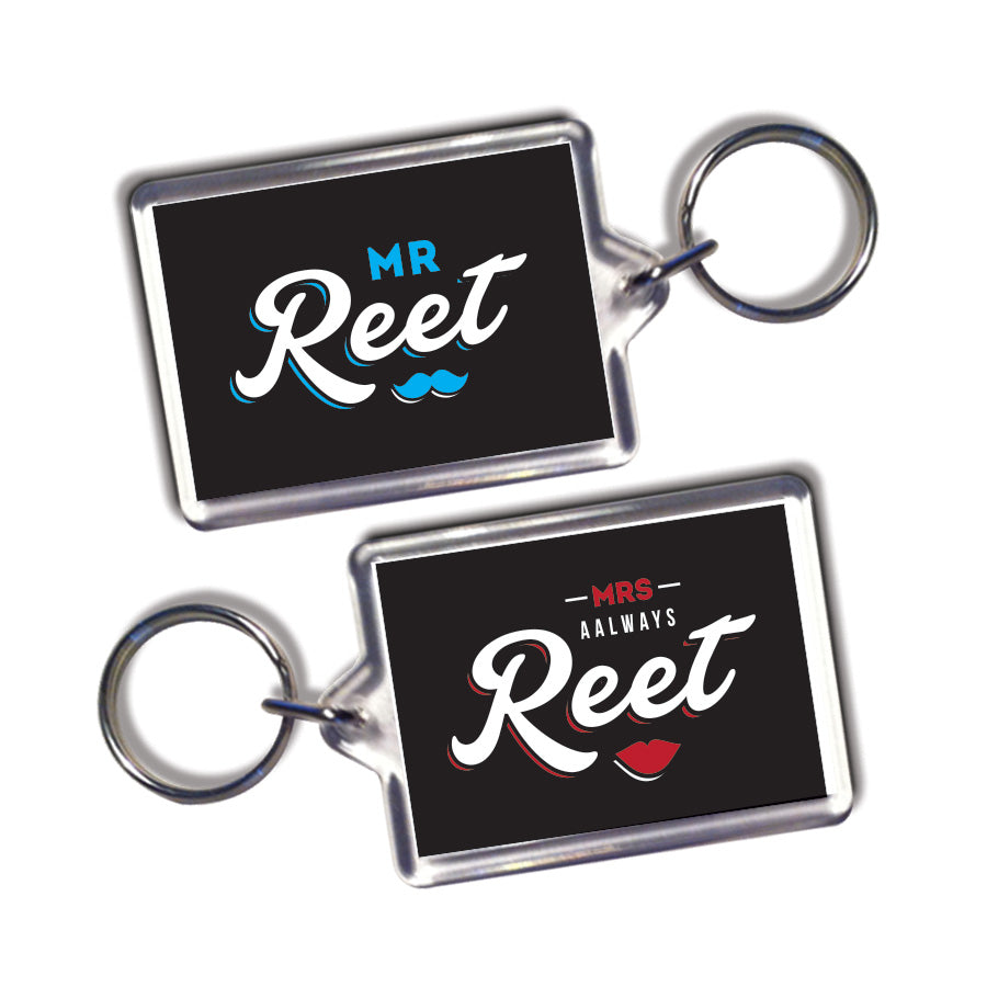 his and hers matching geordie keyrings newcastle souvenirs