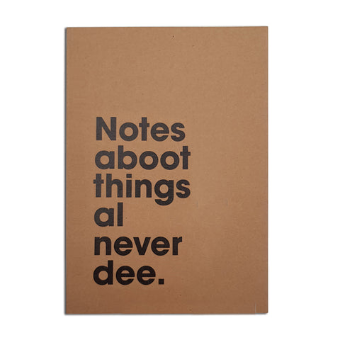 notes aboot things al never dee funny geordie notebooks newcastle gift shop grainger market