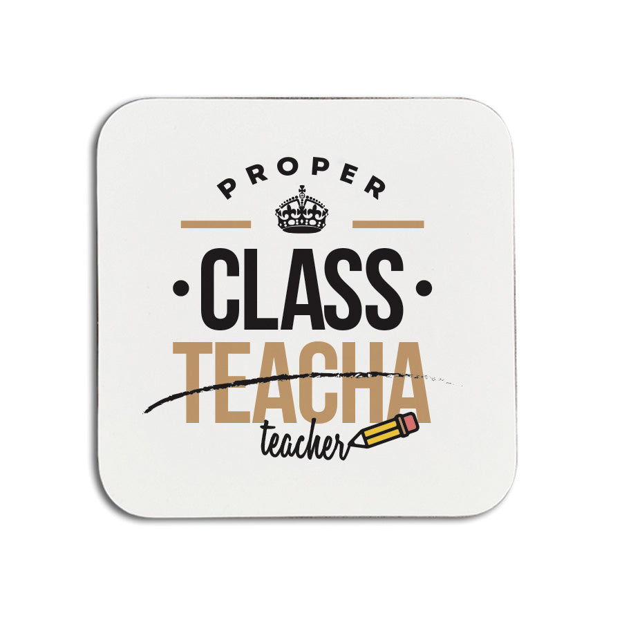 proper class teacha (teacher) geordie gifts teacher coaster. cards and presents for a newcastle school