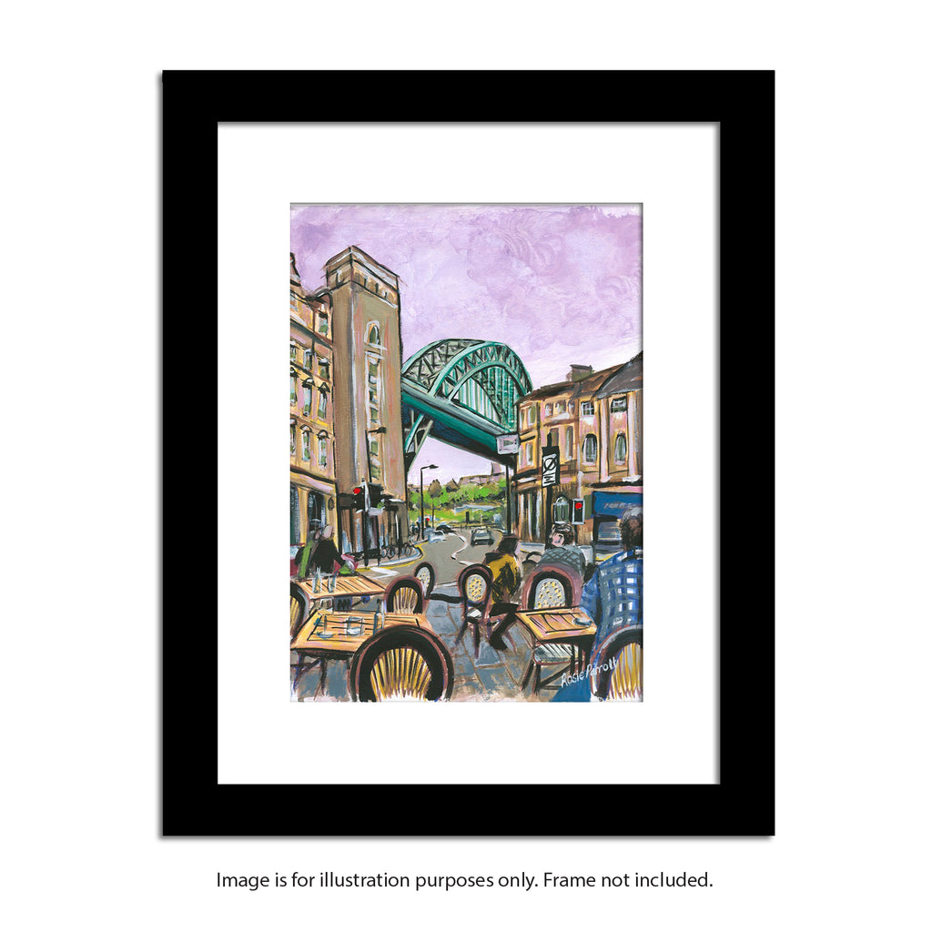 framed tyne bridge painting by rosie parrott. Newcastle artwork prints. North east gifts