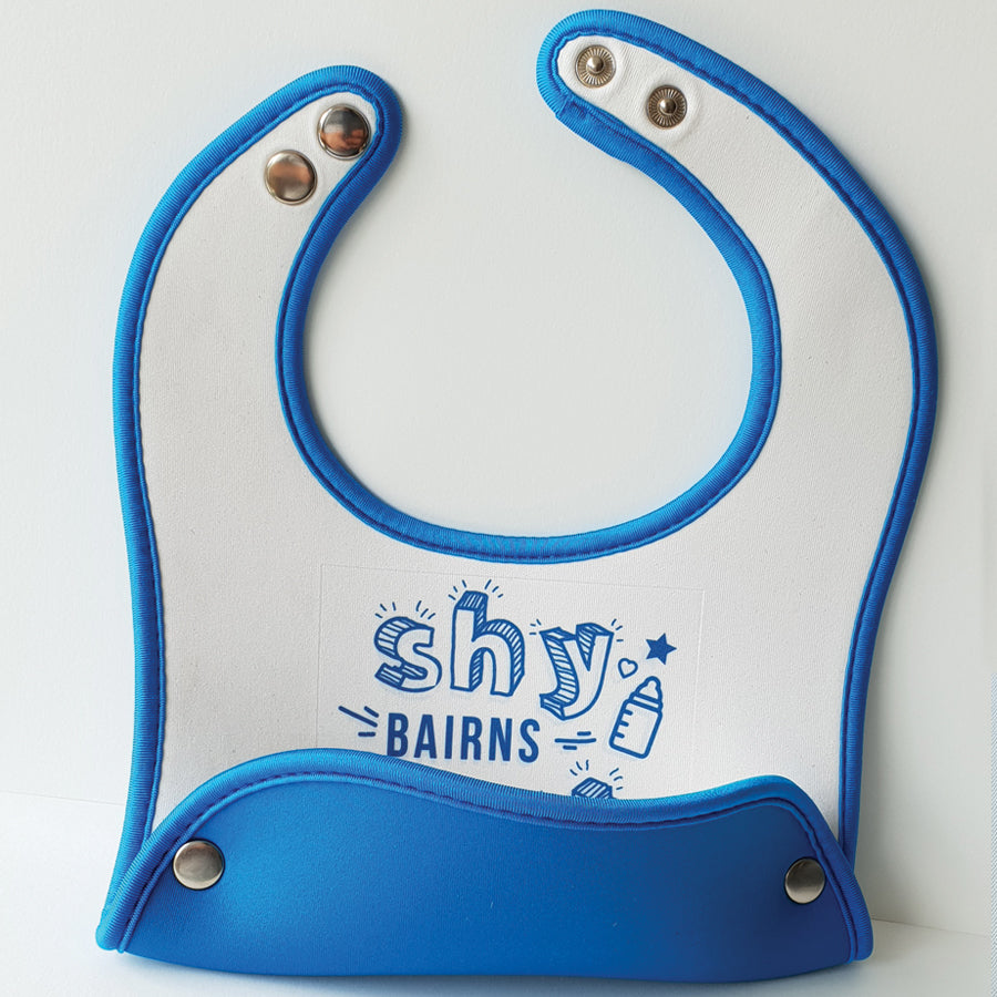 food catcher geordie baby bibs blue shy bairns get nowt funny geordie dialect baby clothes