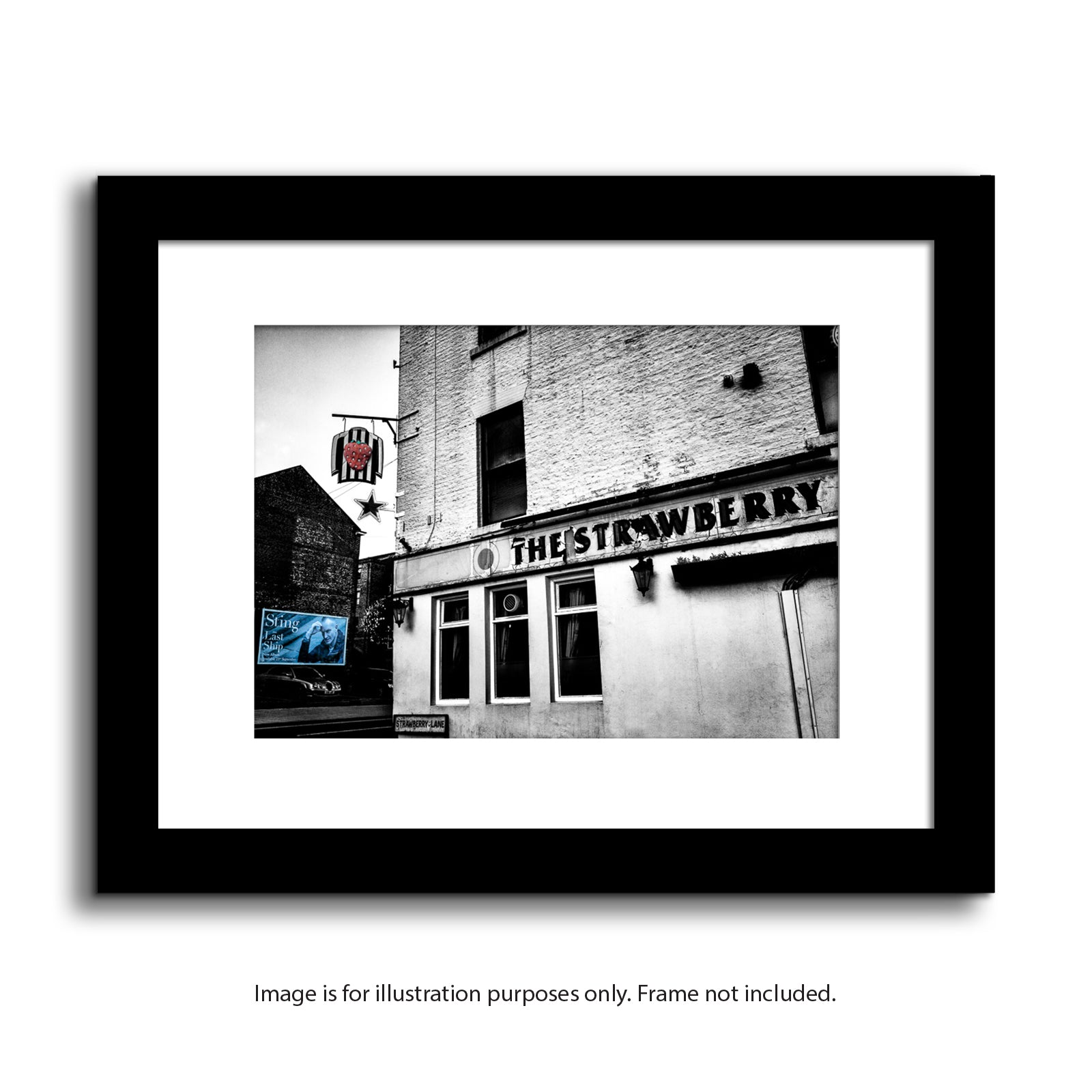 The strawberry pub newcastle upon tyne st james park nufc framed photography prints