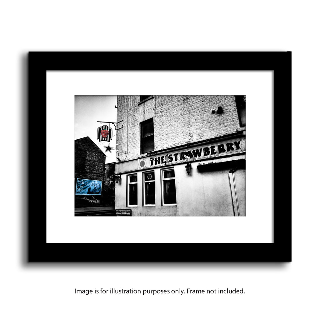 The Strawberry pub newcastle upon tyne, st james park nufc framed photography prints