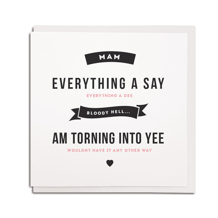 torning in to yee geordie gifts mam cards