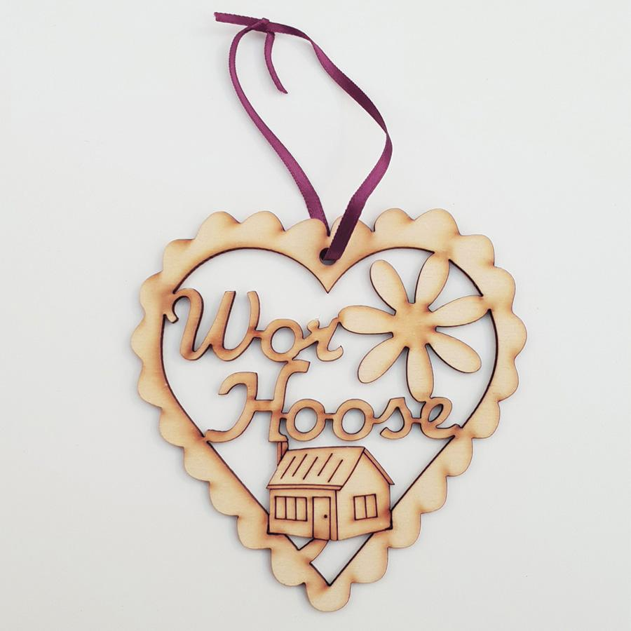 wor hoose geordie christmas tree decoration bauble. Unique lazer cut newcastle gifts
