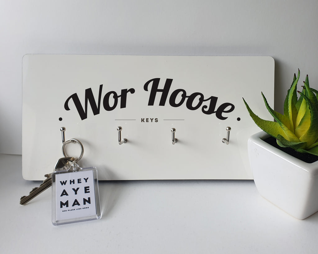 wor hoose keys. geordie wall plaque key hanger house key keep safe. Newcastle presents