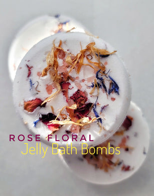 Bath Bomb ROSE FLORAL Jelly Bath Bombs