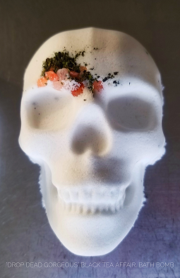 Skull Bath Bomb  BLACK TEA AFFAIR Bath Bombs Bath Fizzies Bathbomb