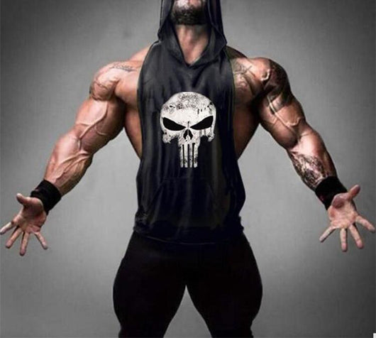 5589b0a8705c2e Workout Punisher Hooded Tank – Wear Your Vibe