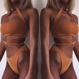 Bandage Cross Halter - Orange, Green or White