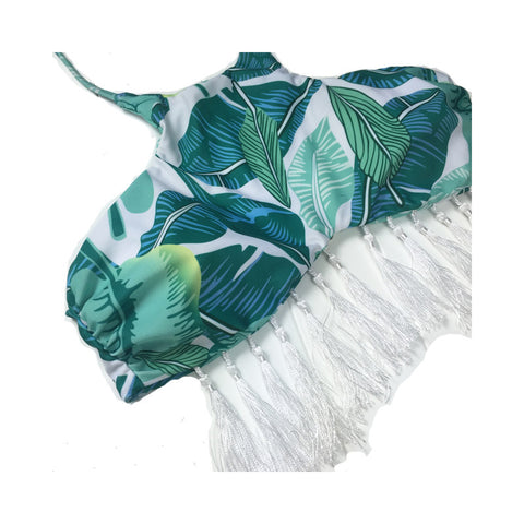 Leaf Tassel Bikini Set - 2 Pieces