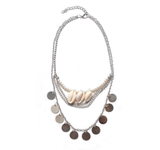 Shells Simple Necklace - Gold or Silver