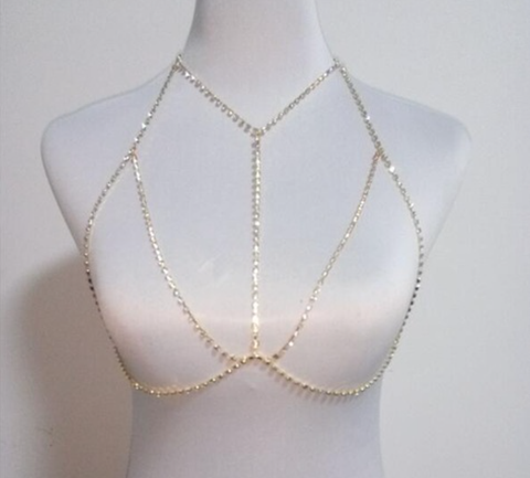 Bra Body Chains Middle - Gold