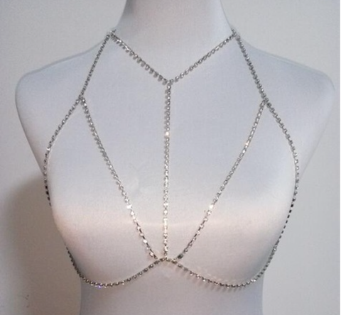 Bra Body Chains Middle - Silver