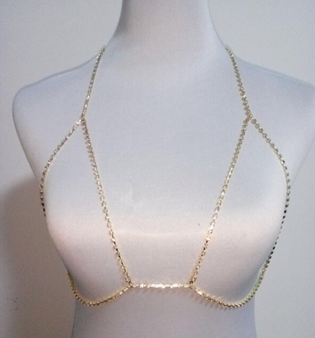 Bra Body Chain - Silver