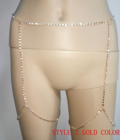 Body & Leg Chain - Silver or Gold