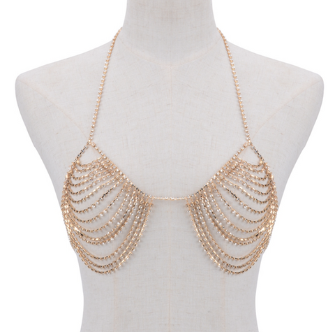 Bra Body Chain - Gold or Silver