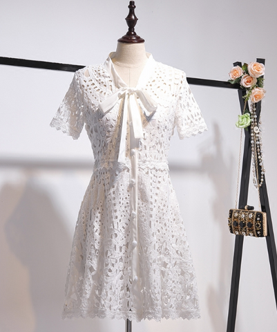 Boho Queen White Lace Dress & Skirt